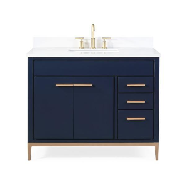 42 Tennant Brand Beatrice Navy Blue Modern Bathroom Sink Vanity Tb 9444nb V42 In 2020 Modern Bathroom Sink Bathroom Sink Vanity Blue Modern Bathrooms