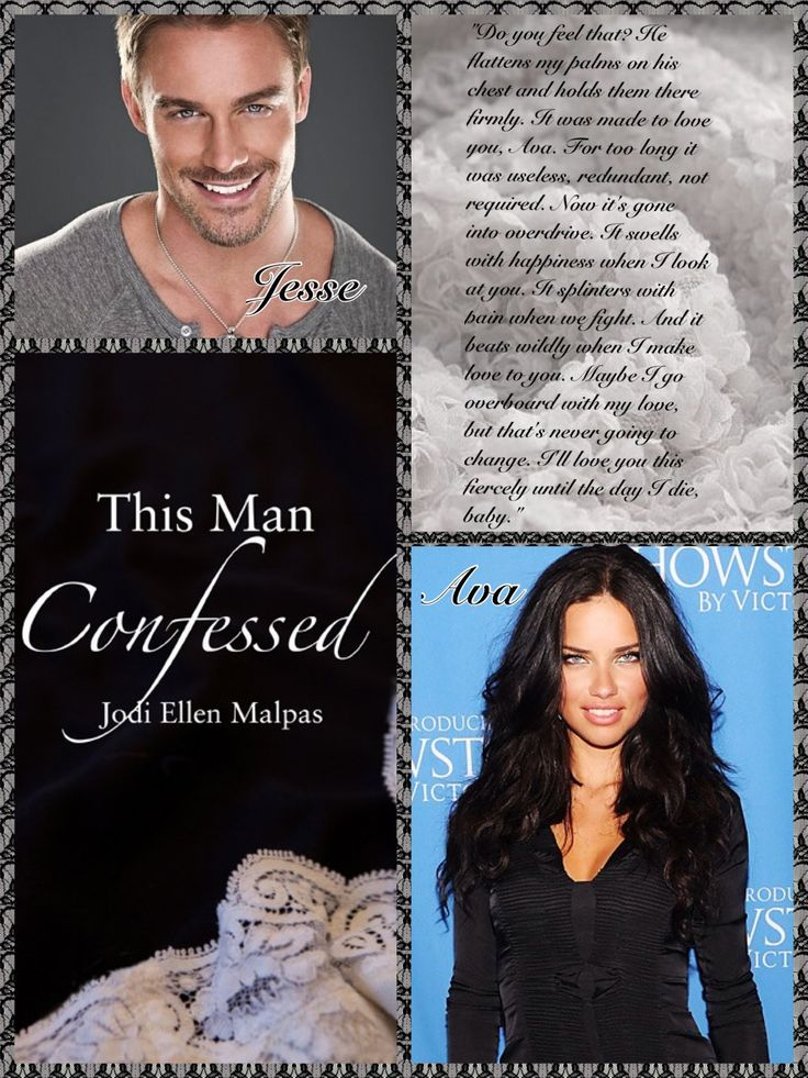 """One of the collages I created for """"Hthis Man Confessed"""""""