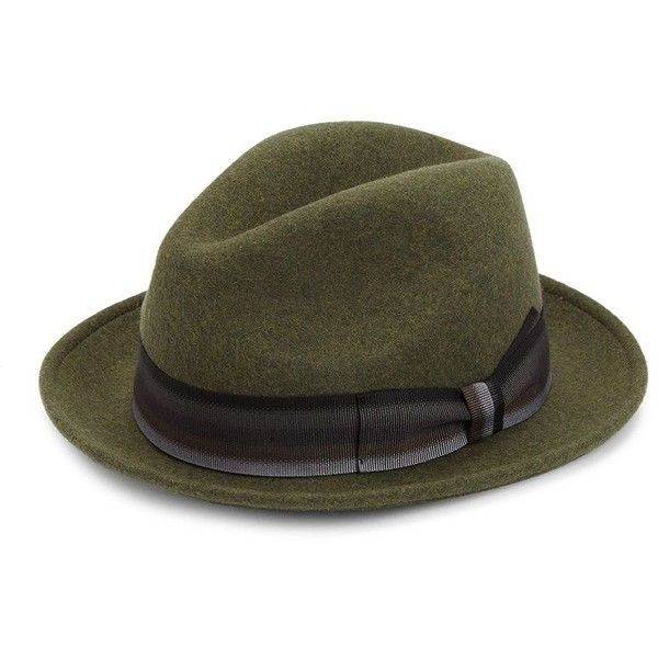 Saks Fifth Avenue COLLECTION Grosgrain Wool Fedora Hat (79.500 CLP) ❤ liked on Polyvore featuring men's fashion, men's accessories, men's hats, mens hats, mens fedora hats, mens wool fedora, mens wide brim fedora and mens wool hats