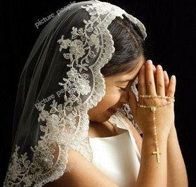 First Communion veil Catholic veil Lace veil by VanyaBvlgari, $76.00