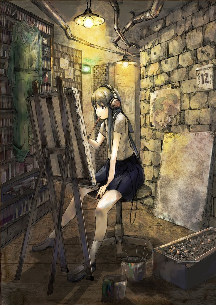 I do like this. It's not like a lot like most anime pictures I've seen. But it really does show how we artist have art blocks and for me music really does help.  I do like this one. Woop! WOOP!