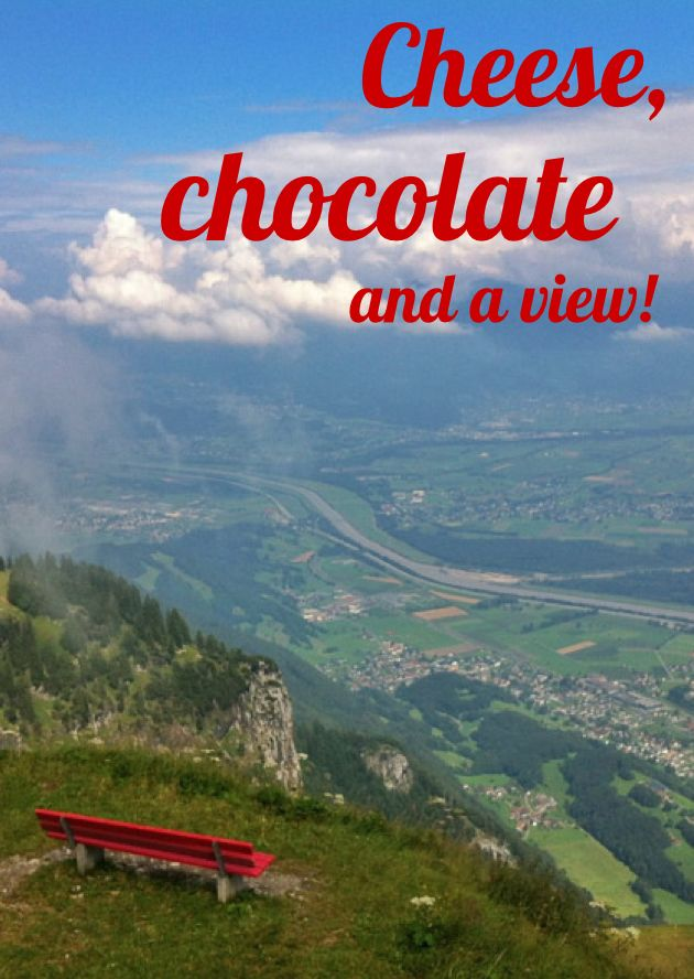 Heading to Zurich? A full day Swiss Mountains Cheese and Chocolate tour will take you to the Lindt Factory Outlet, a cheese factory, and up to see these views. It doesn't just look amazing, the air up there is super sweet!