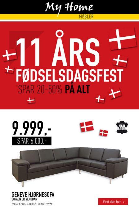 My Homes 11 års fødselsdag fejres med en masse unikke tilbuds på møbler!