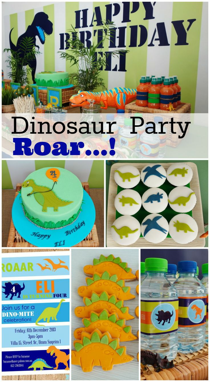 Awesome dinosaur birthday party ideas, perfect for a boy birthday! See more party ideas at CatchMyParty.com. #boybirthday #dinosaurs