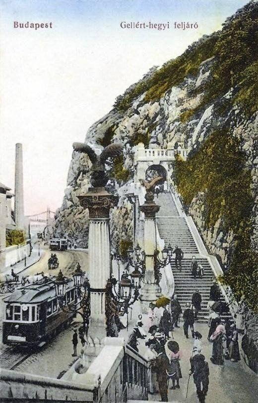 Budapest, Gellért hegy az 1910-es években | Forrás:képeslap