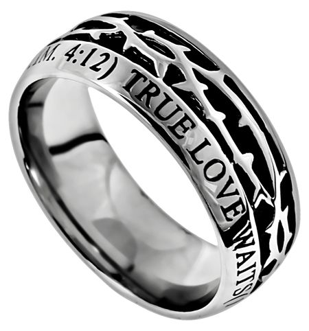 39 true love waits 39 men 39 s crown of thorns ring christian. Black Bedroom Furniture Sets. Home Design Ideas