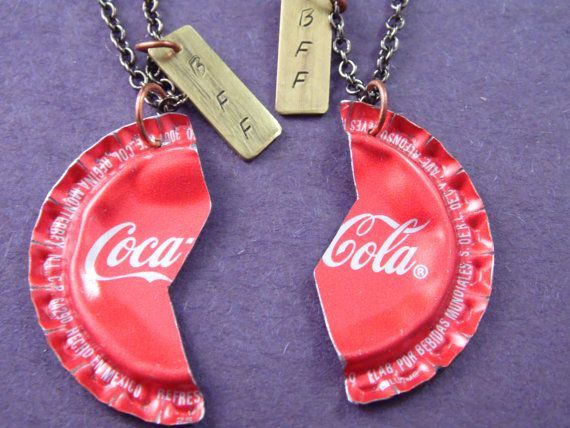 CocaCola BFF Necklaces by KatieDirnbauer on Etsy, $30.00