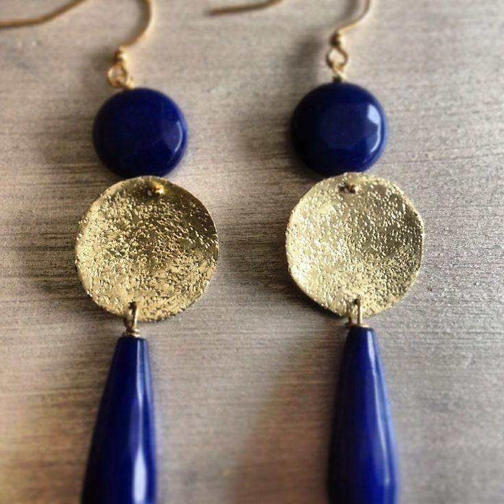 Earrings brass handmade