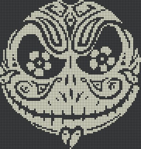 Jack Skellington Sugar Skull Perler Bead Pattern