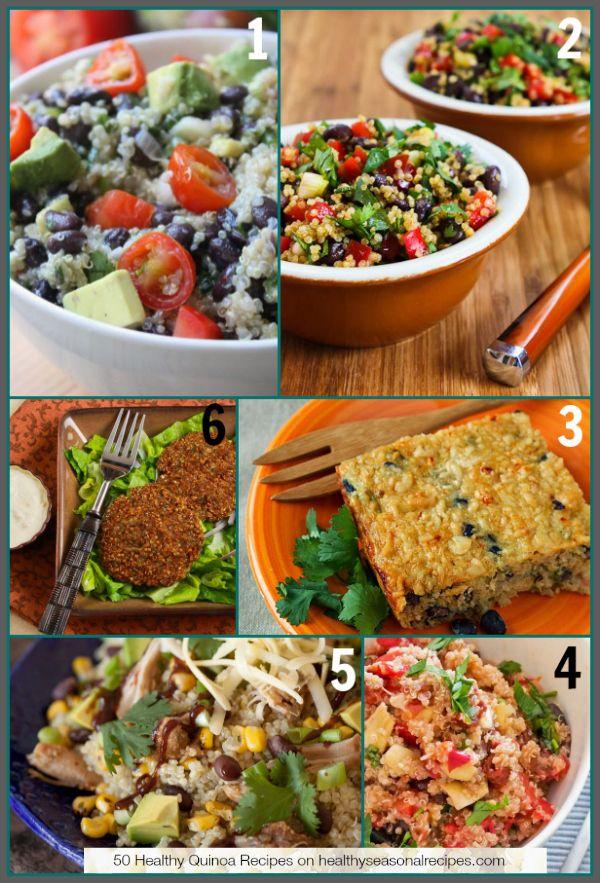 50 Healthy Quinoa Recipes on healthyseasonalrecipes.com