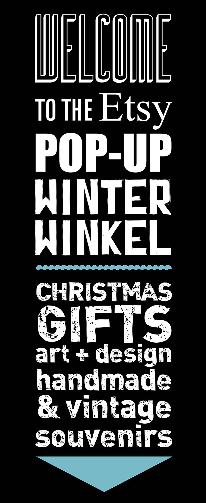 The Etsy Winter Winkel Banner for the Pop Up Shop in Amsterdam! (on the Oudezijds Achterburgwal 121) by Daphne Holthuizen Grafisch Ontwerp