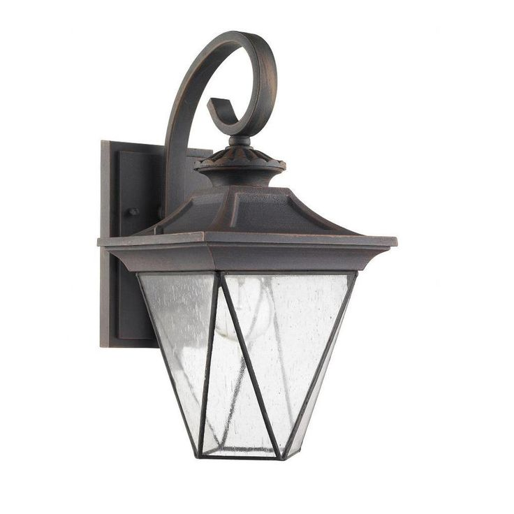 Chloe Transitional 1-light Rustic Bronze Oudoor Wall Sconce Products, Wall lighting and Sconces