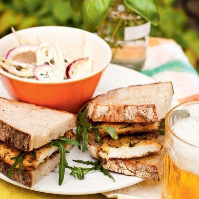 chicken schnitzel sandwiches and fennel rsquoslaw