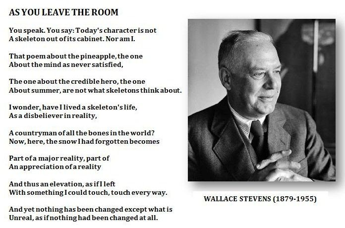 As you leave the room, by Wallace Stevens.