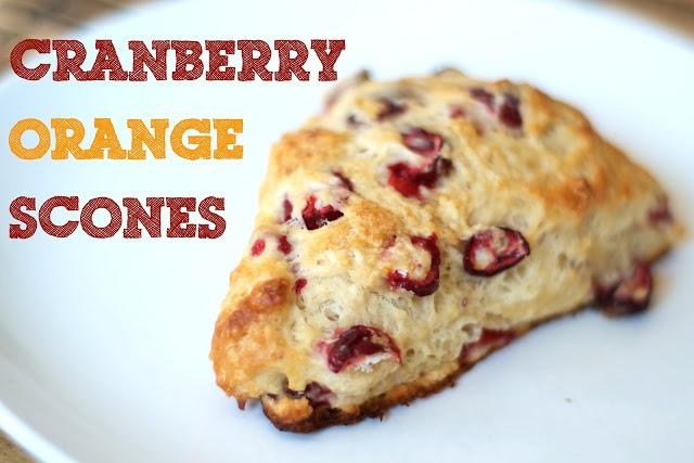 Fresh Cranberry Orange Scones | baking | Pinterest