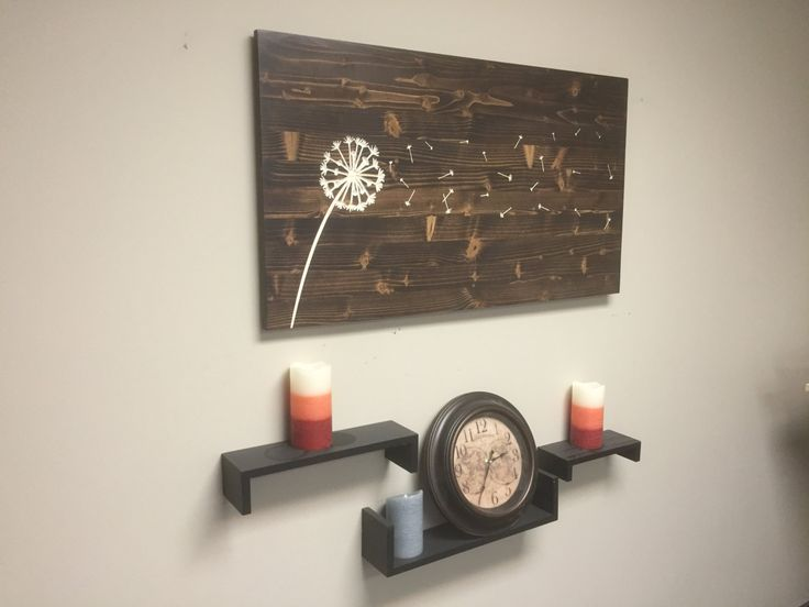 Dandelion Wall Art Wooden Carved Engraved Hanging Sign Blowing Seeds