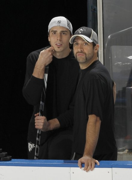 Marc-Andre Fleury and Max Talbot
