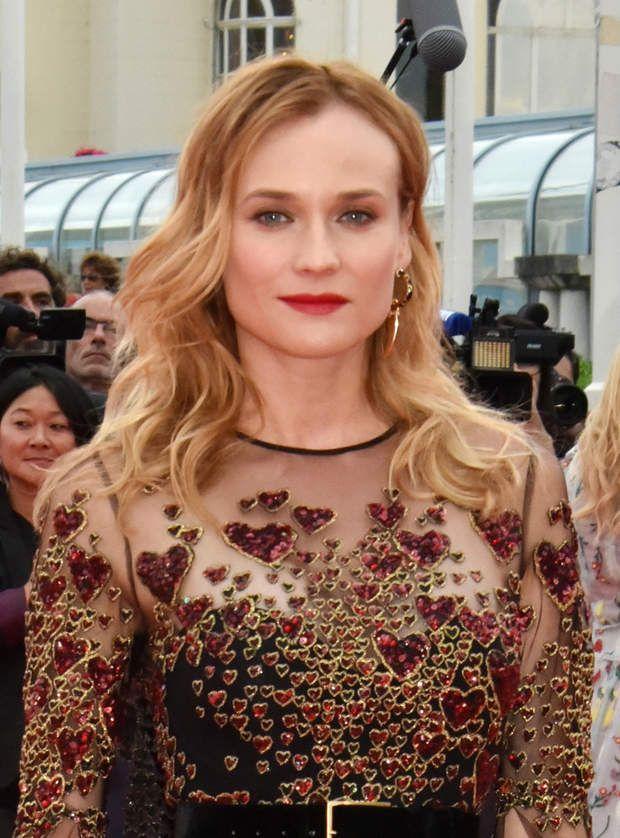 La coupe longue et ondulée (Diane Kruger au festival de Deauville coiffée par Dessange)