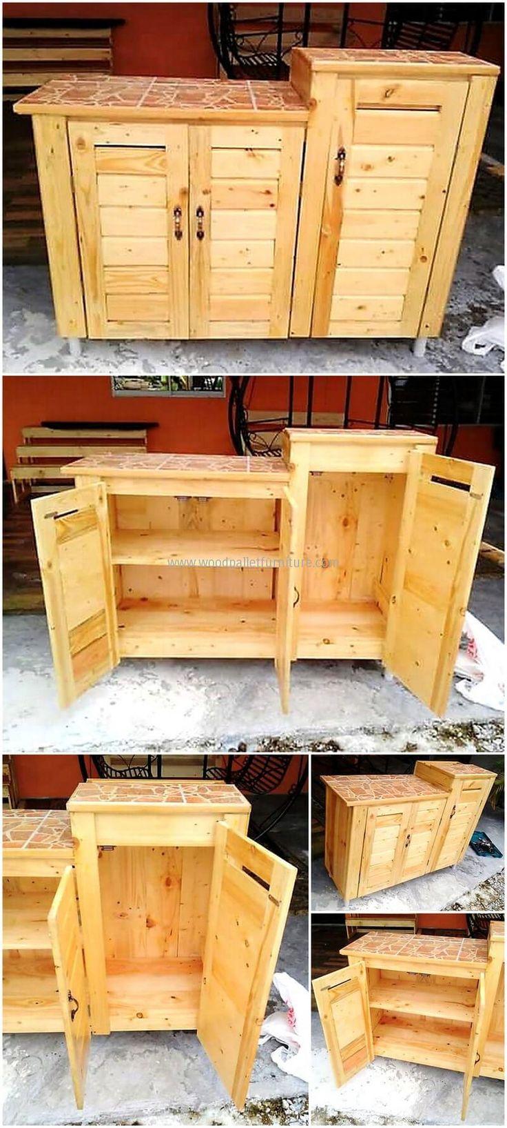 repurposed pallet storage cabinet
