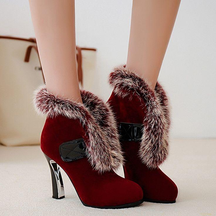 Shoespie Soft Fur Fashion Ankle Boots