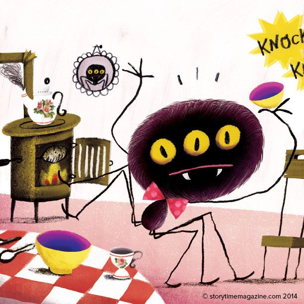 More of a trickster than a baddie – Anansi the Spider in Storytime Issue 4! Illustration by Bruno Nunes (http://www.caixaamarela.com) ~ STORYTIMEMAGAZINE.COM