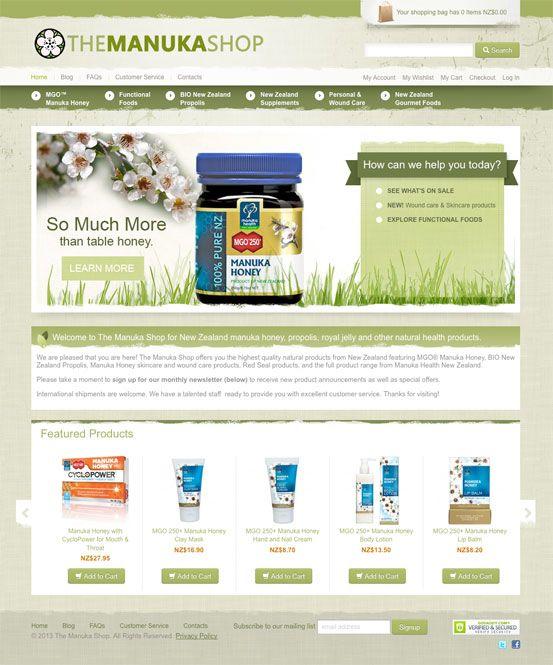 The Manuka Shop - New Zealand manuka honey, propolis, royal jelly and other natural health products.  http://themanukashop.com/