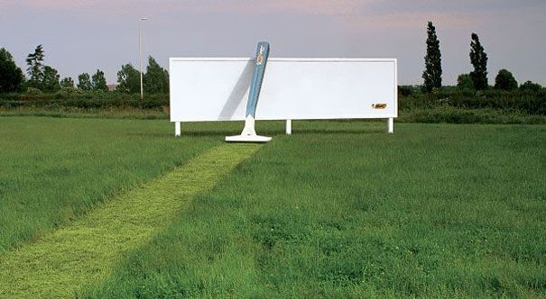 Bic Razor. Haha.: Creative Noticed, Outdoor Art, Street Marketing, Funny Commercial, Art Installations, Guerrilla Marketing, Business Branding, Bic Razor, Design