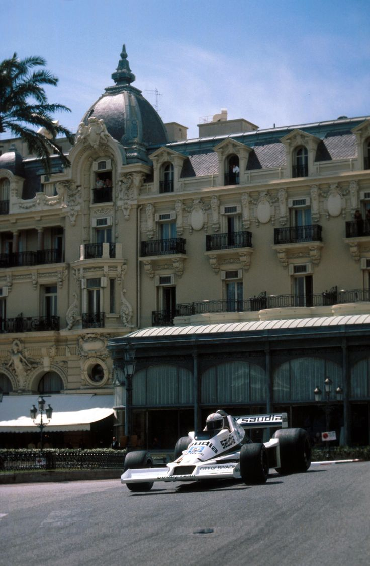 Alan Jones driving the Williams FW06 at the 1978 Monaco GP. Monte Carlo