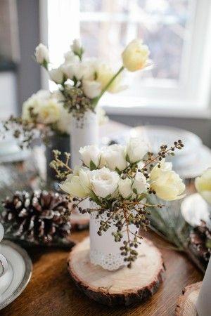 Brunch Table Decorations | Winter Brunch Table - Elizabeth Anne Designs: The Wedding Blog