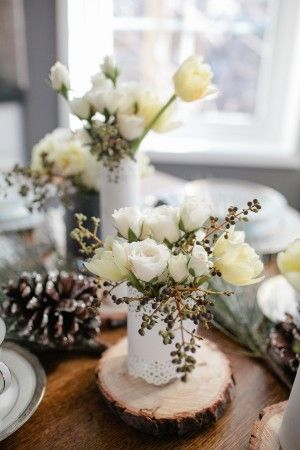 Brunch Table Decorations | Winter Brunch Table - Elizabeth Anne Designs: The Wedding Blog