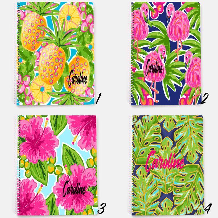 Personalized Notebook, Custom Journal, Flower Notebook, Spiral Notebook, Personalized Journal, Pineapple Notebook, Flamingo Notebook, Summer by JolieJomelieDesigns on Etsy https://www.etsy.com/listing/535019303/personalized-notebook-custom-journal