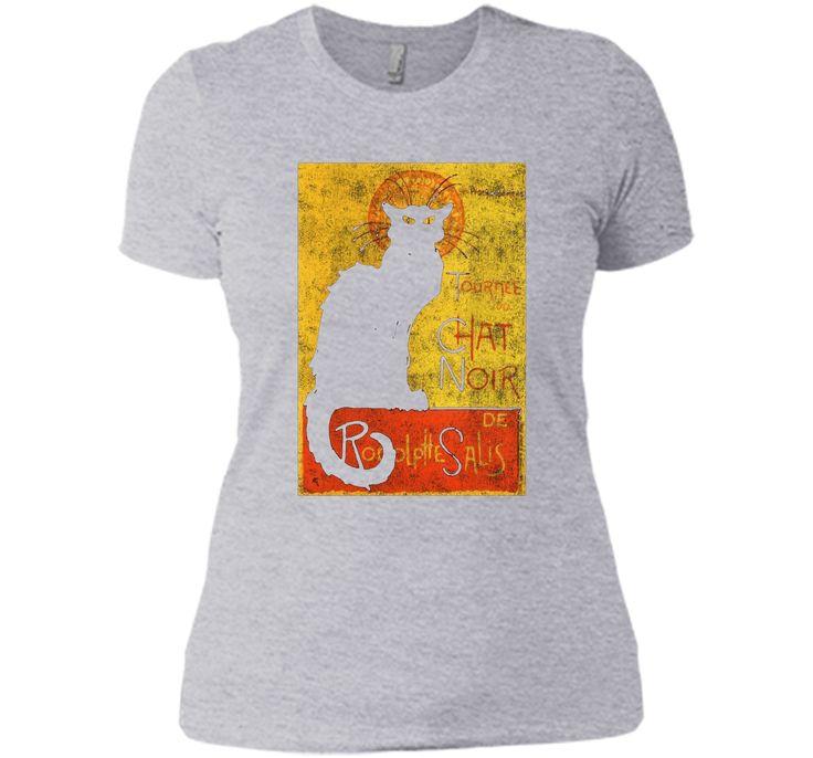 Vintage Tournee du Chat Noir Black Cat Halloween T-Shirt