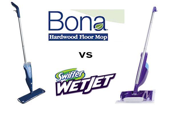 Bona Vs Swiffer An In Depth Side By Side Comparison Of The Bona Hardwood Floor Spray Mop Vs The Swiffer Wetjet Lea Swiffer Spray Mops Cleaning Tile Floors