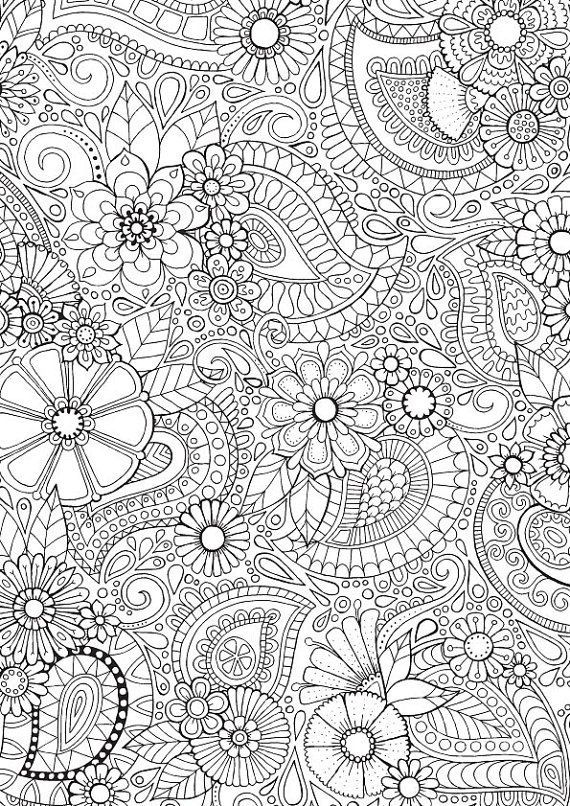 Paisley Blooms - Colour with Me HELLO ANGEL - coloring ...