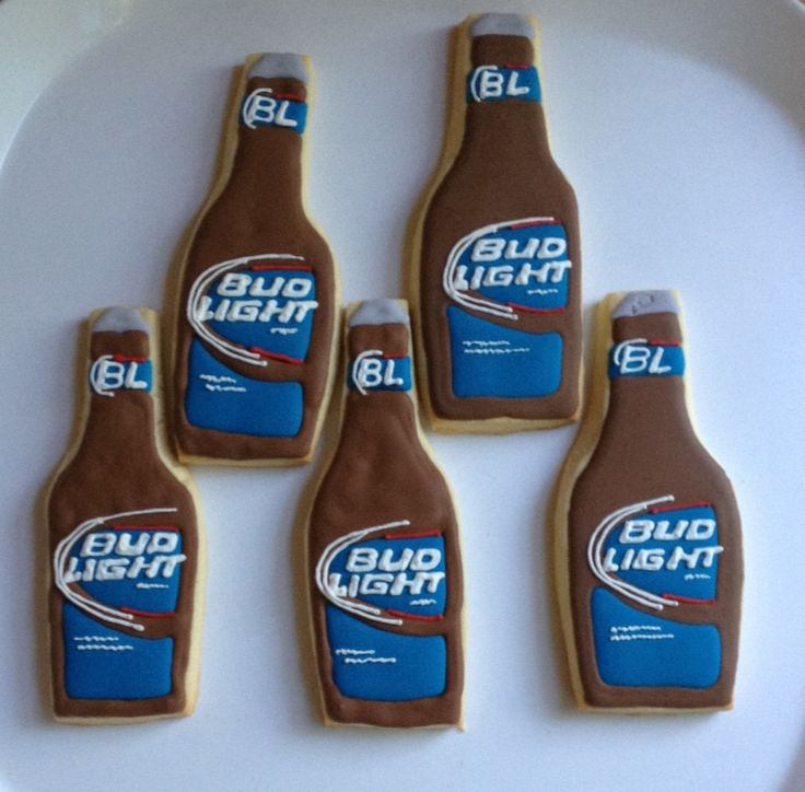 Bud Light Cookies - perfect for dads bday this year