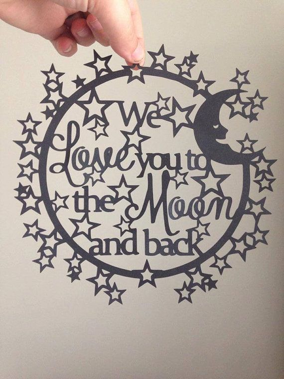 paper cutting template we love you to the moon by amyspaperdreams