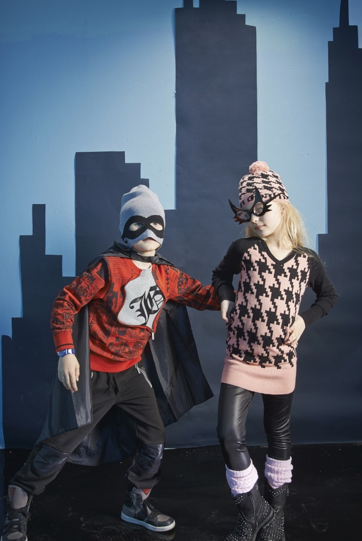 John Galliano kids winter 2013 with a superhero style for the fall