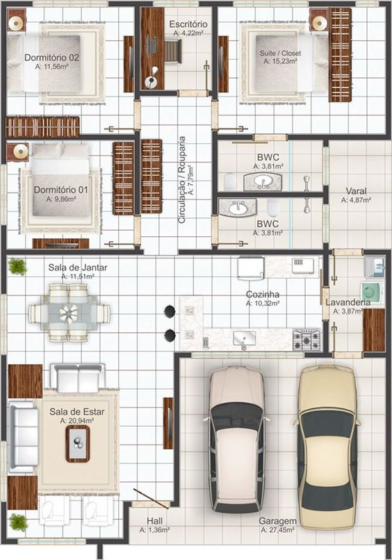 Las 25 mejores ideas sobre planos de casas peque as en for Plantas de viviendas modernas