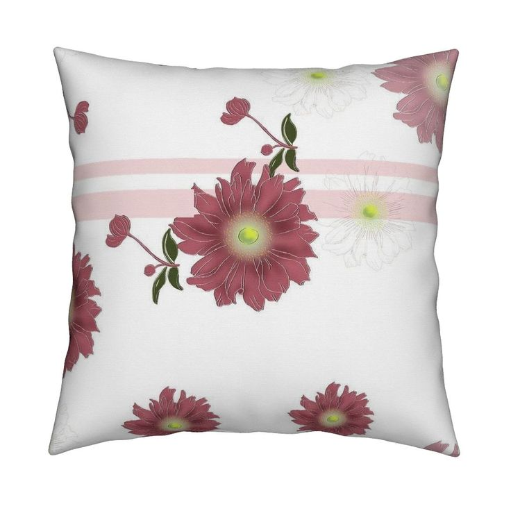 Catalan Throw Pillow featuring anemone_with_stripes by funkenflug | Roostery Home Decor