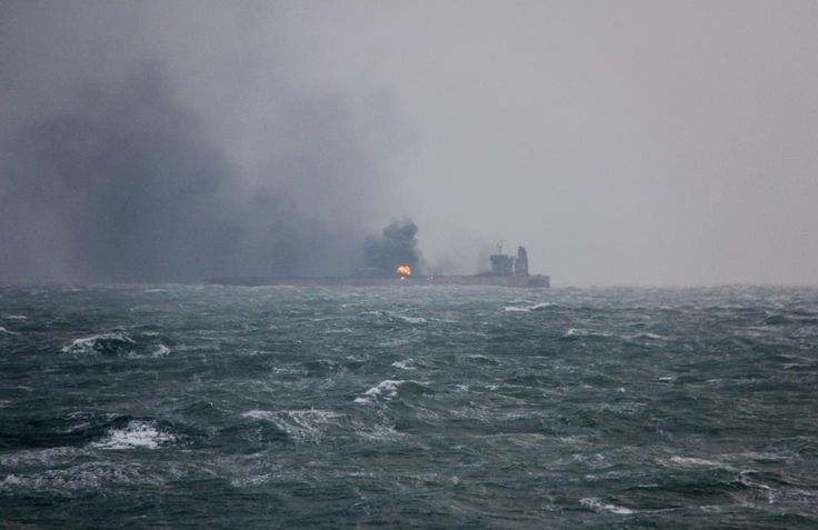 East China Sea oil tanker burns for third day as winds, high waves lash rescuers