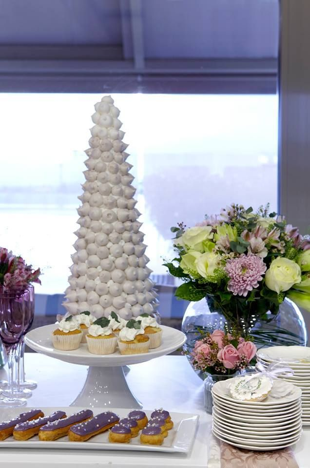 """Our """"Tower of Treats"""", guaranteed to sweeten any party! http://bit.ly/1S4PhBp  #TruCatering #BirthdayParty #sweet"""