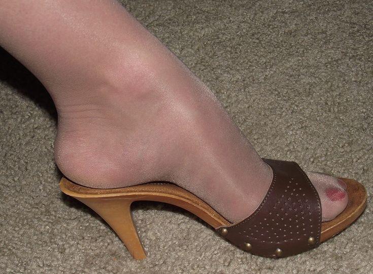 Dr Scholls Original Wood Sole Exercise Sandals Size 6