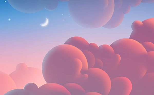 Clouds Illustrations by Aaron Campbell – Fubiz™