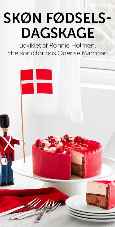 Imponer med en skøn fødselsdagslagkage. Den skønne fødselsdagskage er udviklet af Ronnie Holmen, chefkonditor hos Odense Marcipan. #odensemarcipan #fødselsdag #kage #hurra #kaybojsen