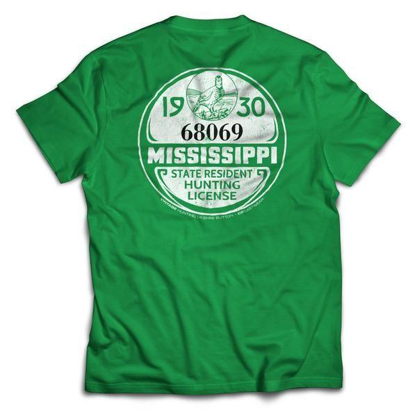 1930 MS Hunting License T-Shirt