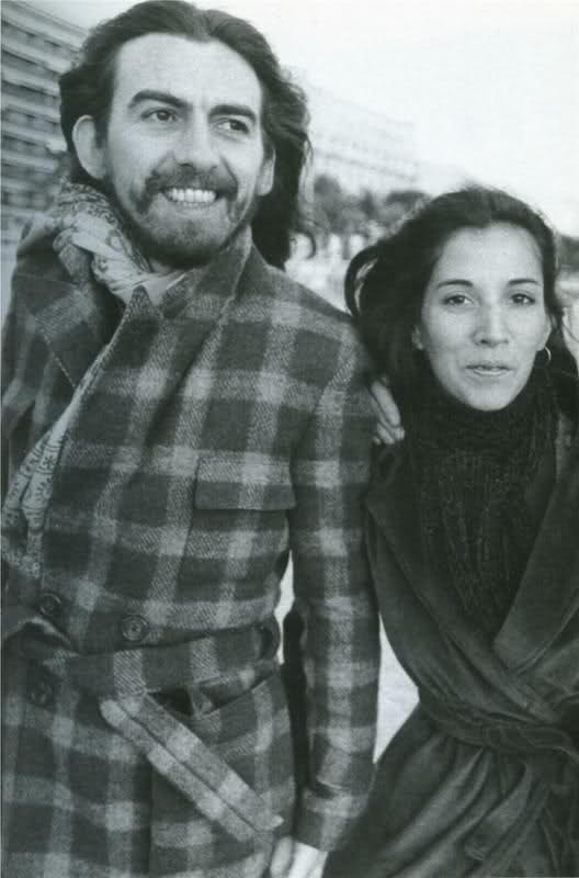 George and Olivia Harrison - Harrison married Dark Horse Records' secretary Olivia Trinidad Arias on 2 September 1978. They had met at the Dark Horse offices in Los Angeles in 1974, and together had one son, Dhani Harrison, born on 1 August 1978.