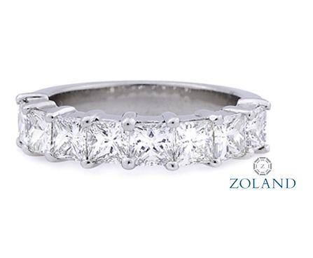 Princess Cut Diamond Band #Diamond #ring