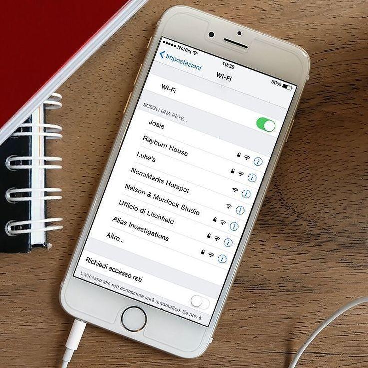 Casa è dove il Wi-Fi si connette automaticamente. by netflixit