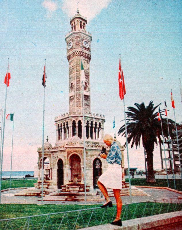 Konak saat kulesi (clock tower) İzmir, TURKEY 1972.