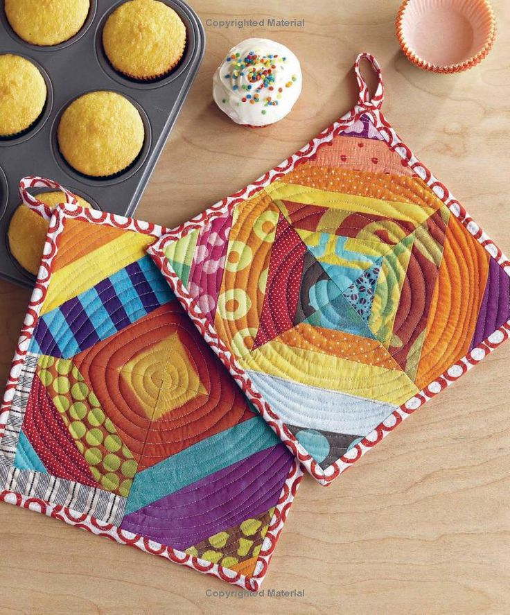 I like the way the circular quilting creates movement. I might make some of these for quick gifts.